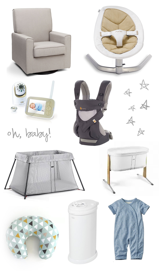 Oh, baby! Wish list / registry for a new baby