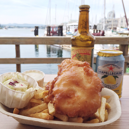 Delicious fish 'n chips in Victoria, BC