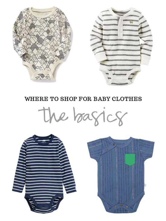 Where to shop for baby clothes: The Basics