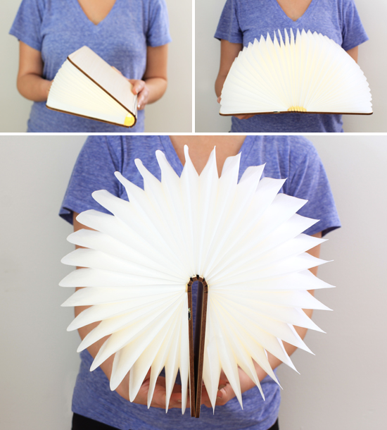 An LED lamp that is concealed in the form of a hardcover book