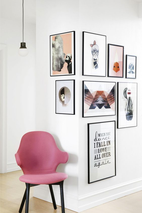 Creative ways to hang art #1: Wrap a gallery wall around a corner
