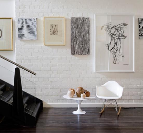 Creative ways to hang art #2: Line up art along top edge