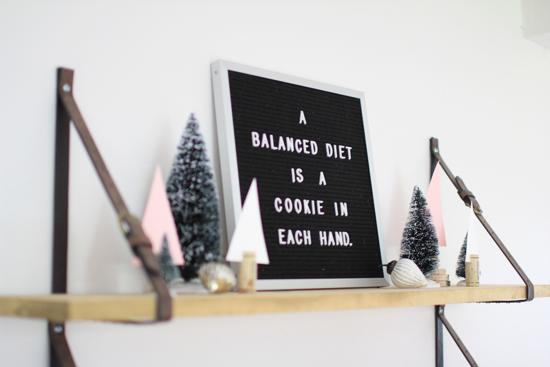 A balanced diet...