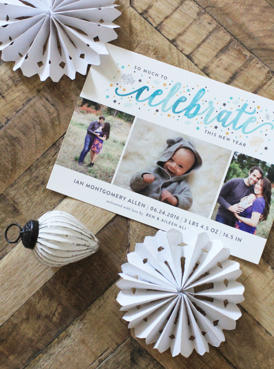 Our holiday card with Minted