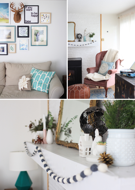 Simple living room updates for winter