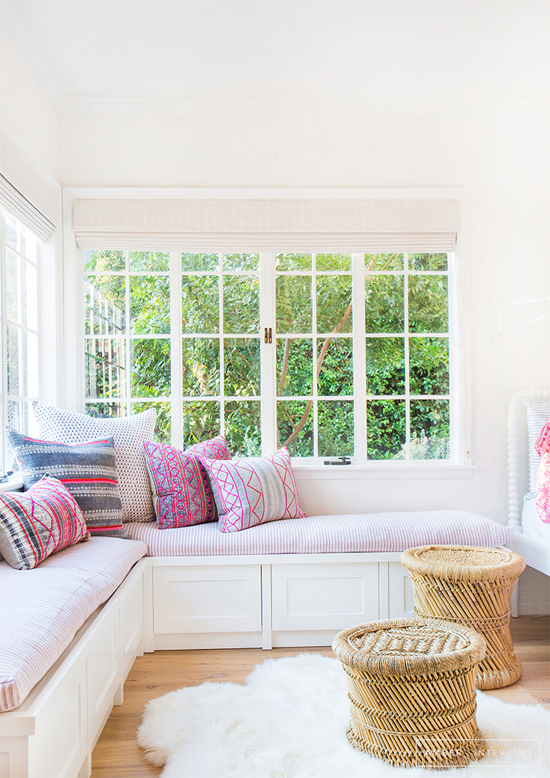 Pink Fairy Wishes Bench Seat With Storage Toy Box Seating: Dreamy Window Seats