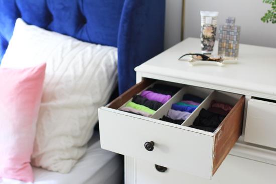 Organized underwear drawer