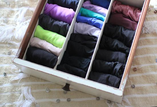 Organized panty drawer