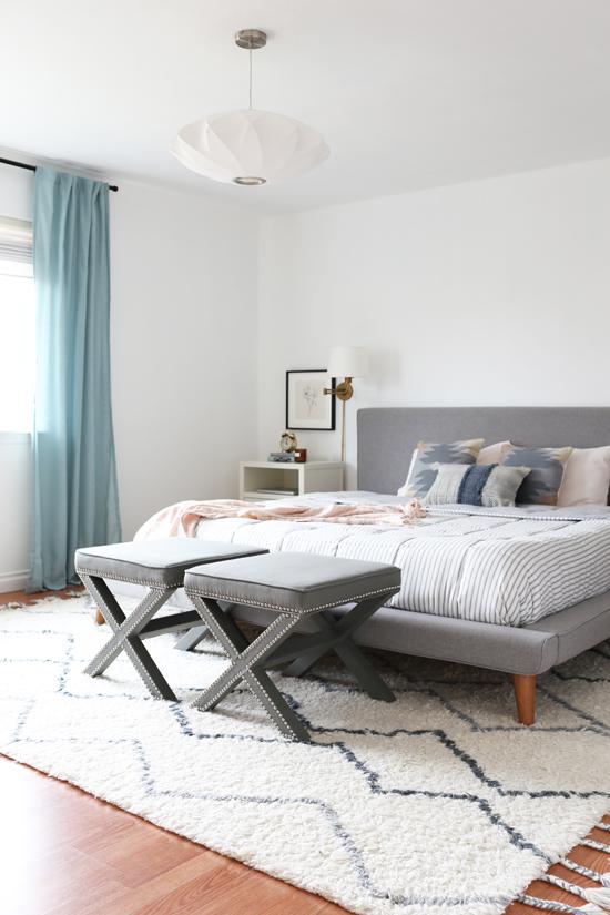 West coast bedroom style