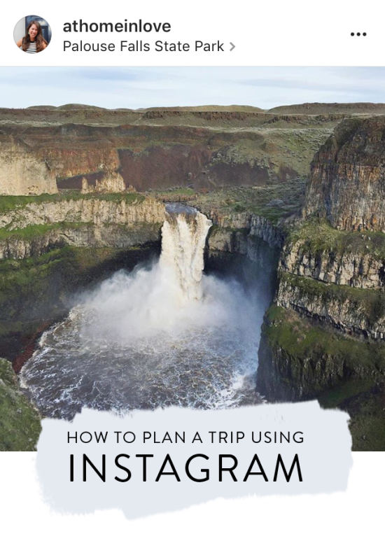 How to plan a trip using Instagram