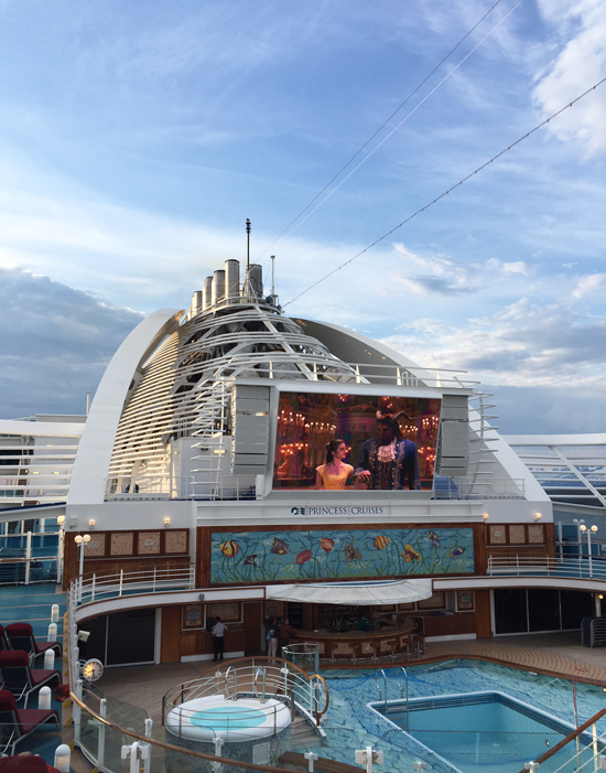 Outdoor movies on Princess Cruises