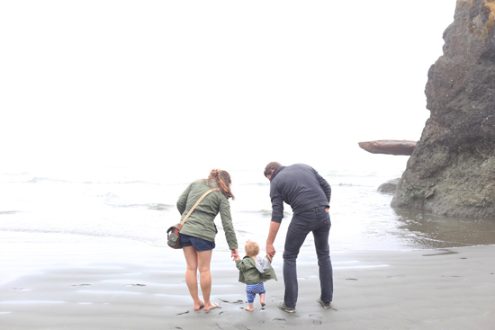 Ian's first trip to the ocean