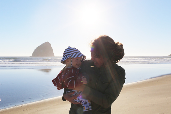 Beach time with Ian