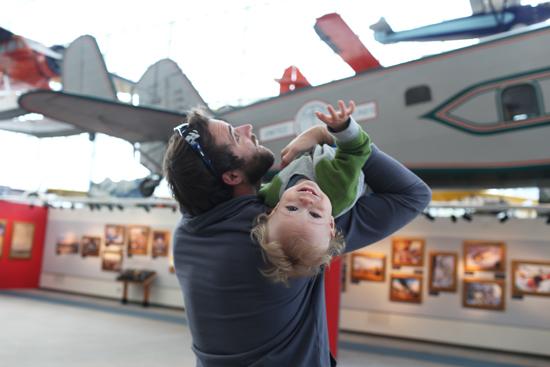 Ian at the Flight Museum