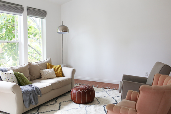 Living room: figuring out what to do with the blank wall
