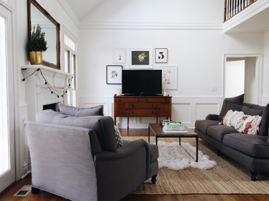 Living room inspiration: what to do with the blank wall