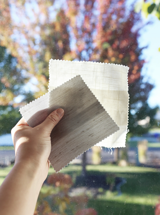 Swatches for window treatments