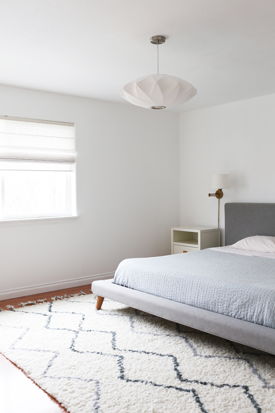 Simple, neutral master bedroom