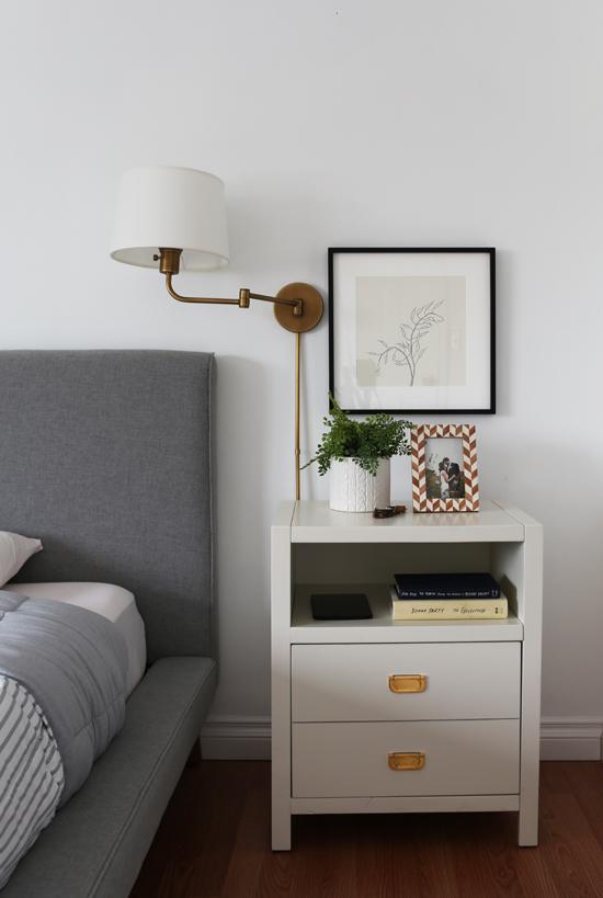 Art above nightstands