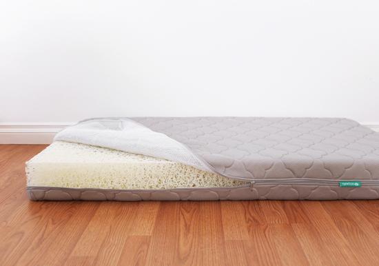 Breathable, washable crib mattress