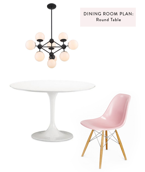 Dining Room Plan: Round Table