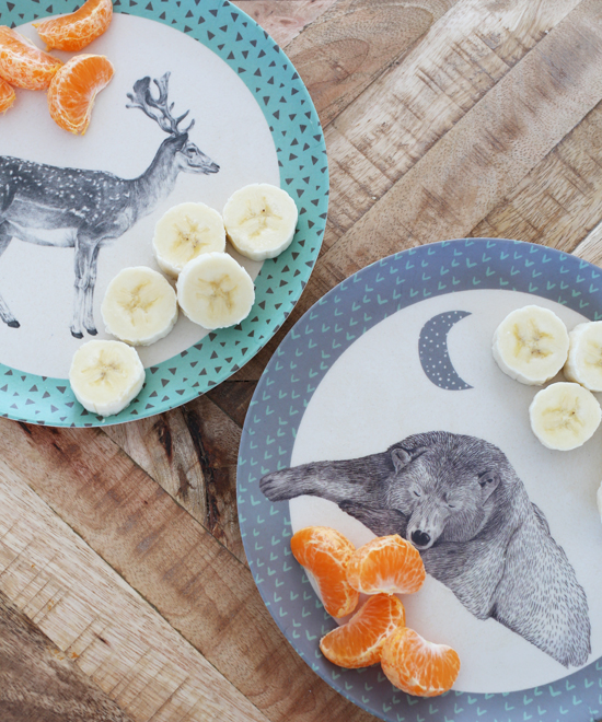 Cutest bamboo dinnerware for toddlers