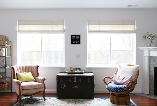 Family room updates for spring