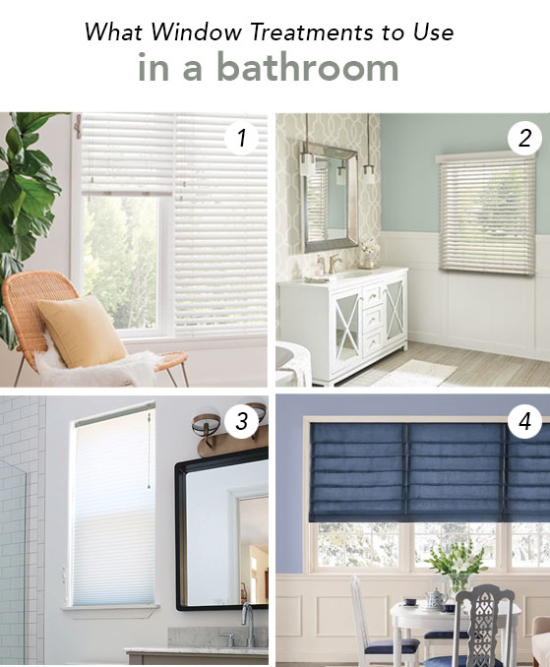 What window treatments to use in a bathroom