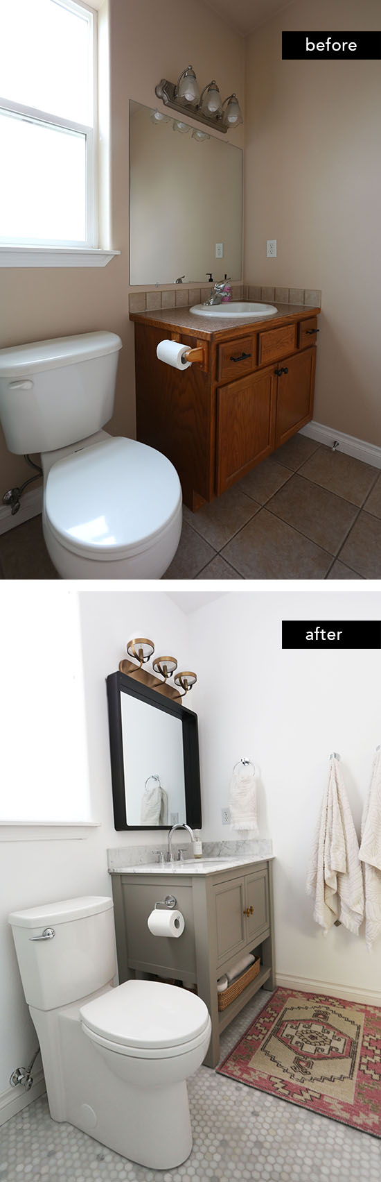 At home in love inspiring interiors stylish trends - Budget friendly bathroom remodel ...