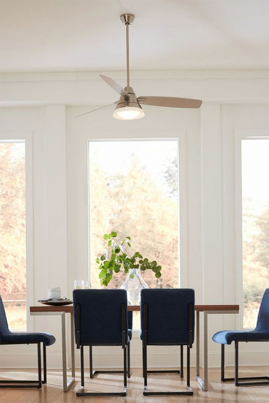 Yay or nay ceiling fan over the dining table at home in love ceiling fan in dining room aloadofball Images