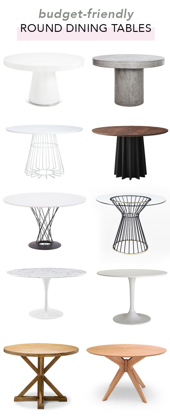 Budget-friendly round dining tables