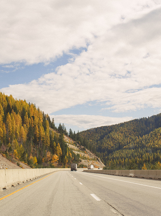 Drive to Whitefish in the fall
