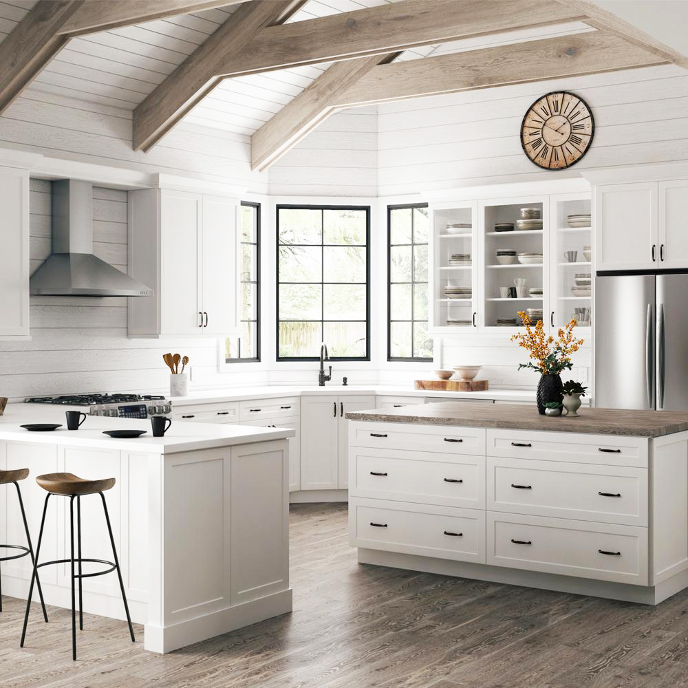 Two Affordable Options for White Shaker Cabinets | At Home ...